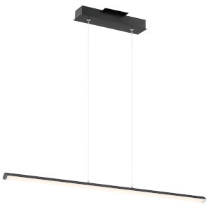 Float Matte Black 48-Inch LED Pendant with Acrylic Lens Shade