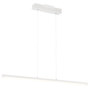 Float Matte White 48-Inch LED Pendant with Acrylic Lens Shade