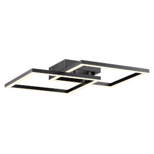 Squared Black 19-Inch Led Wall Sconce