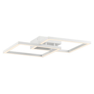 Squared White 19-Inch Led Wall Sconce