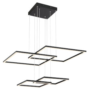 Squared Black Led Pendant