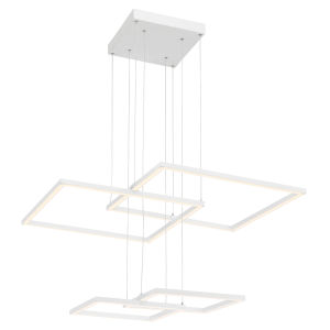 Squared White Led Pendant
