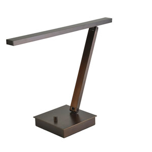 TaskWerx 14-Inch Bronze One-Light LED Linear Desk Lamp