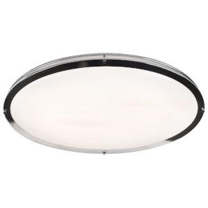 Solero Oval Chrome LED Flush Mount