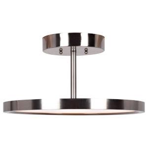 Sphere Brushed Steel LED Flush Mount