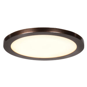 Disc Bronze Eight-Inch LED Flush Mount