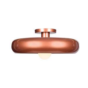 Bistro Copper and Gold 16-Inch LED Flush Mount
