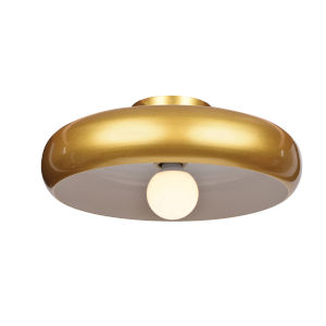 Bistro Gold and White 16-Inch LED Flush Mount