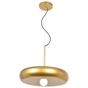 Bistro Gold and White 16-Inch LED Pendant
