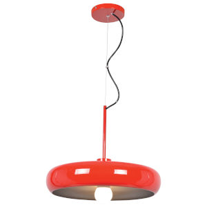 Bistro Red and Silver 16-Inch LED Pendant