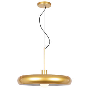 Bistro Gold and White 24-Inch LED Pendant