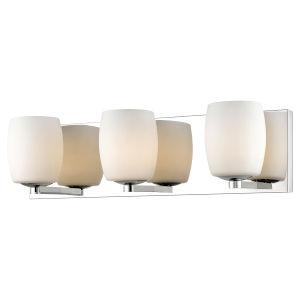 Serenity Mirrored Stainless Steel Three-Light LED Bath Vanity