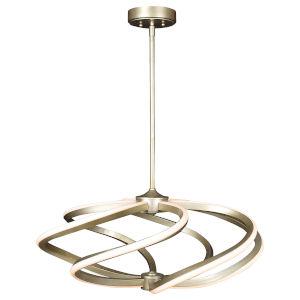 Vortex Inspired Gold 27-Inch Six-Light LED Pendant