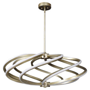 Vortex Inspired Gold 33-Inch Eight-Light LED Pendant
