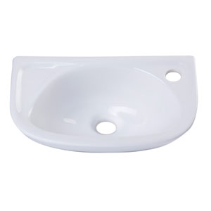 Small White Wall Mounted Porcelain Bathroom Sink Basin