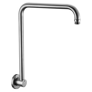 Brushed Nickel 12-inch Round Raised Wall Mounted Shower Arm