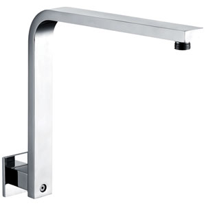 Polished Chrome 12-inch Square Raised Wall Mounted Shower Arm