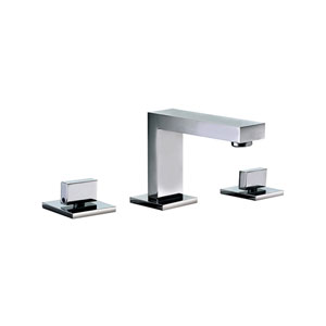 Polished Chrome Modern Widespread Bathroom Faucet