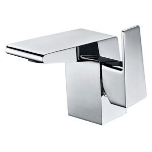 Polished Chrome Modern Single Hole Bathroom Faucet