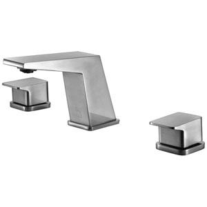 Brushed Nickel Modern Widespread Bathroom Faucet