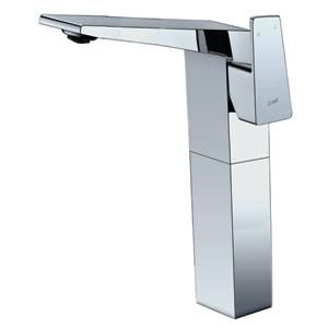 Polished Chrome Single Hole Tall Bathroom Faucet