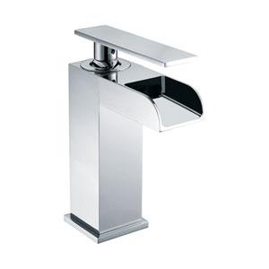 Polished Chrome Single Hole Waterfall Bathroom Faucet