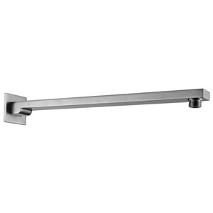 Brushed Nickel 16-inch Wall Mounted Square Shower Arm