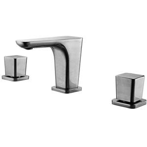 Brushed Nickel Widespread Modern Bathroom Faucet
