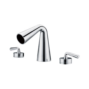 Polished Chrome Widespread Cone Waterfall Bathroom Faucet