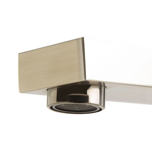 Brushed Nickel Deck Mounted Tub Filler and Square Hand Held Shower Head
