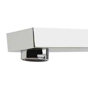 Polished Chrome Deck Mounted Tub Filler and Square Hand Held Shower Head