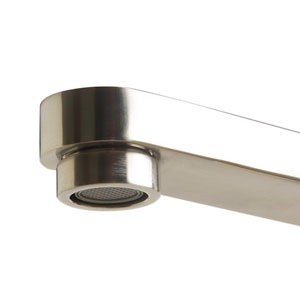 Brushed Nickel Deck Mounted Tub Filler and Round Hand Held Shower Head