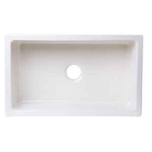 30-inch x 18-inch Undermount Biscuit Fireclay Kitchen Sink