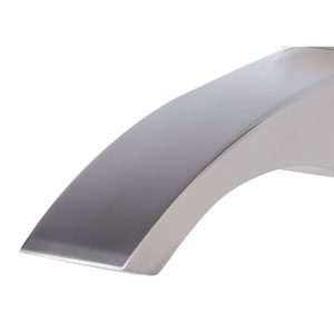 Brushed Nickel Curved Wall mounted Tub Filler Bathroom Spout