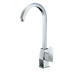 Polished Chrome Gooseneck Single Hole Bathroom Faucet