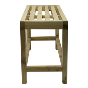 26-inch Solid Wood Slated Single Person Sitting Bench