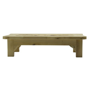 24-inch Solid Wood Stepping Stool for Easy Access