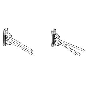 16-inch Triple Rack Wooden Towel Bar Bathroom Accessory