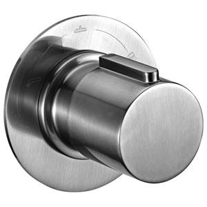 Brushed Nickel Modern Round 3 Way Shower Diverter