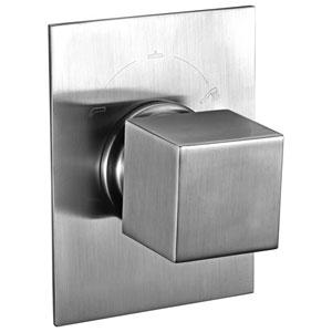 Brushed Nickel Modern Square 3 Way Shower Diverter