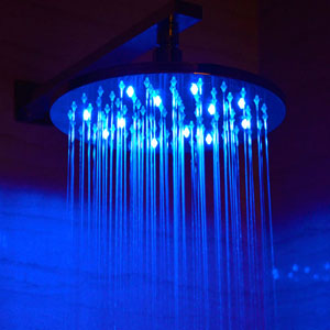 10 Inch Round Multi Color LED Rain Forest Shower Head