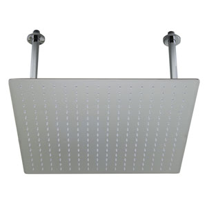 20-inch Square Polished Solid Stainless Steel Ultra Thin Rain Shower Head