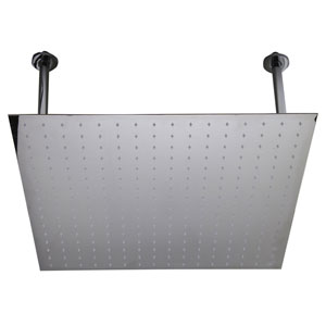 24-inch Square Polished Solid Stainless Steel Ultra Thin Rain Shower Head