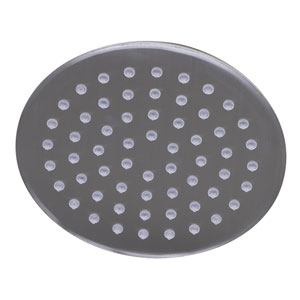 Solid Brushed Stainless Steel 8-inch Round Ultra Thin Rain Shower Head