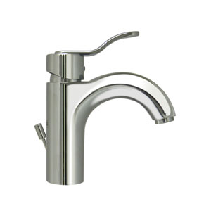 Wavehaus Polished Chrome Single Hole/Single Lever Lavatory Faucet w/Pop-Up Waste