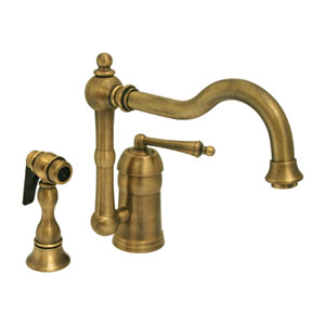 Legacyhaus Polished Chrome 9-Inch Single Lever Handle Faucet With Traditional Swivel Spout And Solid Brass Side Spray