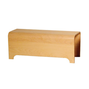 Aeri Ebony Vanity Wood Bench