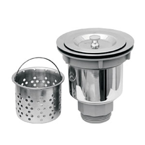 Stainless Steel 3.5-Inch Basket Strainer w/Deep Removable Basket