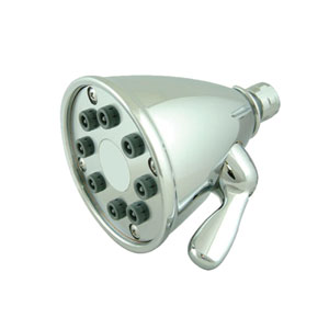 Showerhaus Polished Chrome 4.75-Inch Round Showerhead w/8 Spray Jets - Solid Brass Construction w/Adjustable Ball Joint