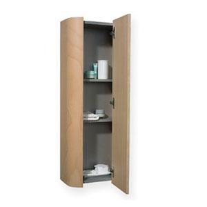 Aeri Ebony 15-Inch Vertical Wall Mount Storage Unit w/Four Shelves